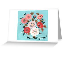 Thank you! Bright flowers Greeting Card