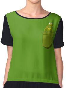 Kermit Pocket Chiffon Top