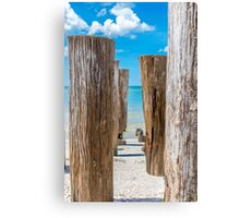 Between the Pillars Canvas Print