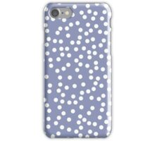 Cute Dusty Purple and White Polka Dot iPhone Case/Skin