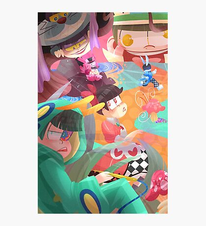 Osomatsu-san in Wonderland Photographic Print