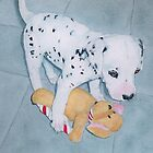 Roxie the Dalmatian Pup by Yvonne Carter