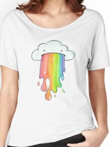 Puking rainbow cloud Women's Relaxed Fit T-Shirt
