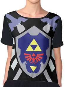 The hero of time, Link's shield Chiffon Top