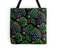 Cactus Floral - Bright Green/Pink Tote Bag