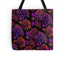 Cactus Floral - Bright Purple/Orange Tote Bag
