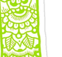 zentangle l: green  Sticker