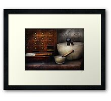 Apothecary - Pestle & Drawers Framed Print