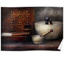 Apothecary - Pestle & Drawers Poster