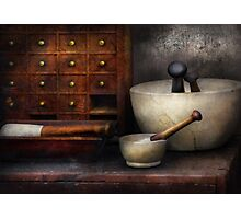 Apothecary - Pestle & Drawers Photographic Print