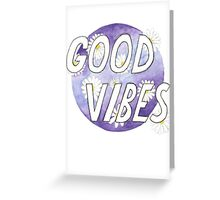 Good Vibes Daisies Greeting Card