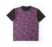 Cactus Floral - Purple/Black/Green Graphic T-Shirt