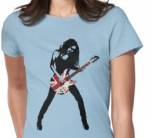 GUITAR WOMAN UNION JACK Womens Fitted T-Shirt