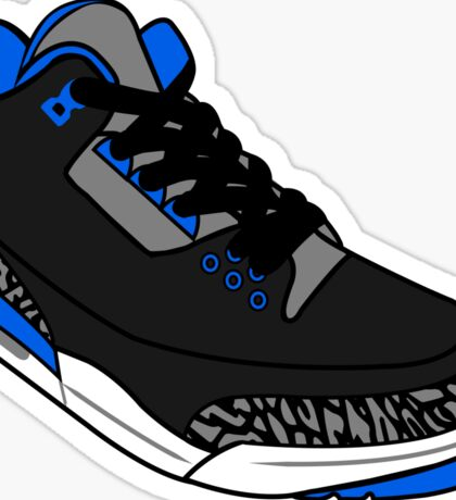 Sport Blue 3s Sticker