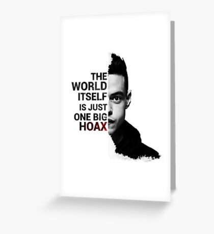Mr. Robot - Elliot's Quote Greeting Card
