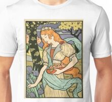 Vintage poster - Woman with flowers Unisex T-Shirt