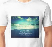 Rumi Love and the Sea Unisex T-Shirt