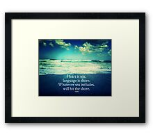 Rumi Love and the Sea Framed Print