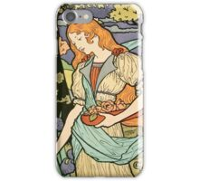 Vintage poster - Woman with flowers iPhone Case/Skin