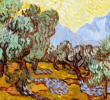 Van Gogh - Olive Trees with Yellow Sky and Sun Sticker