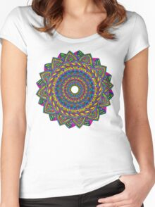 Crazy Color Wheel Women's Fitted Scoop T-Shirt