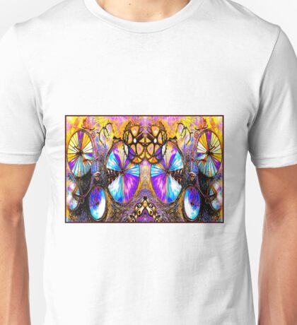 BICYCLES ABSTRACT ART; Whimsical Painting Print Unisex T-Shirt