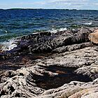 Rugged Shore - Wreck Island by Debbie Oppermann