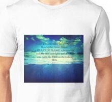 Rumi Heart of Flame quote Unisex T-Shirt
