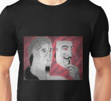 Megatron Holoform With Guy Fawkes Mask  Unisex T-Shirt