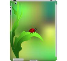 Ladybug sitting on a green leaf iPad Case/Skin