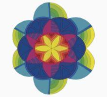 Bright zentangle flower Kids Tee