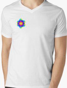 Bright zentangle flower Mens V-Neck T-Shirt