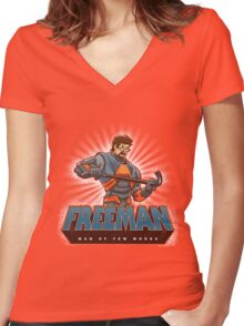 Freeman Women's Fitted V-Neck T-Shirt