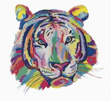 rainbow tiger Kids Tee