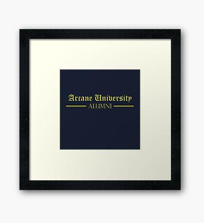 Arcane University Alumni Framed Print