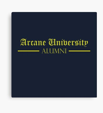 Arcane University Alumni Canvas Print