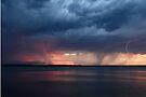 Storm Fest over Pumicestone Passage by Barbara Burkhardt