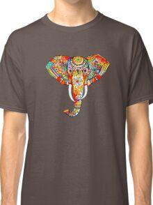 tribal elephant rainbow Classic T-Shirt