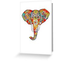 tribal elephant rainbow Greeting Card