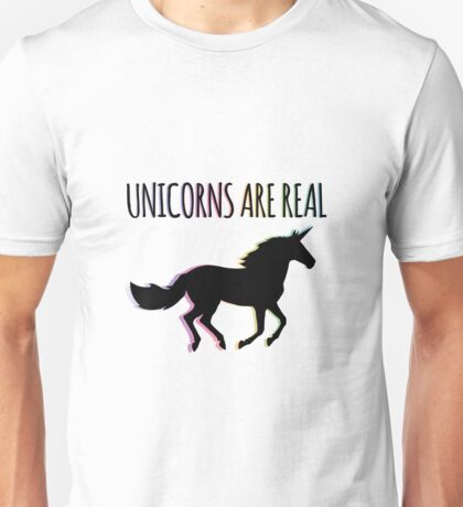 Unicorns are Real Rainbow Version Unisex T-Shirt