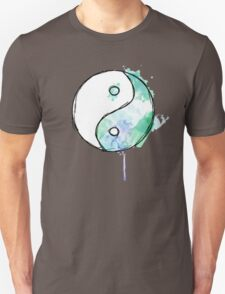 Water colour ying and yang drip Unisex T-Shirt