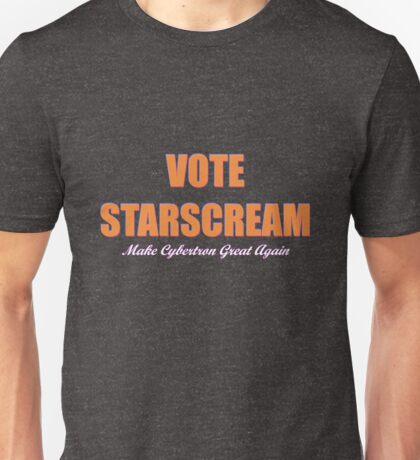 Vote Starscream Unisex T-Shirt