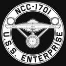 USS Enterprise Logo - Star Trek - NCC-1701 (TOS) by James Ferguson - Darkinc1