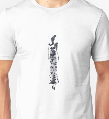 Fashion woman in sketch style with ink Unisex T-Shirt