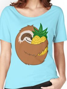 Pineapple Sloth Women's Relaxed Fit T-Shirt