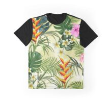 Tropical pattern with flowers Graphic T-Shirt
