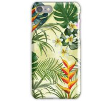 Tropical pattern with flowers iPhone Case/Skin