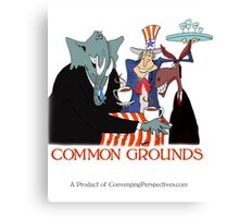 Finding Common Grounds political mug Canvas Print