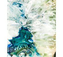 Abstract Agate Blue Geode Photographic Print