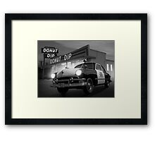 Cops Shoot Unarmed Donut Framed Print
